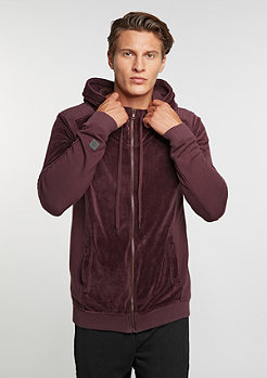 Hooded-Zipper Sweat Keaton Burgundy