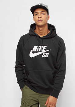 NIKE SB Hooded Sweatshirt Icon black/white