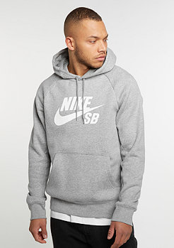 NIKE SB Hooded Sweatshirt Icon dark grey heather/white