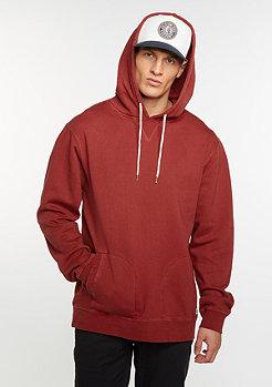 Brixton Hooded-Sweatshirt Damo Fleece burgundy