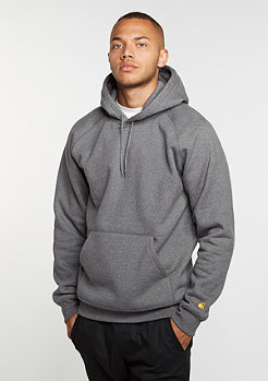 Carhartt WIP Hooded-Sweatshirt Chase dark grey heather