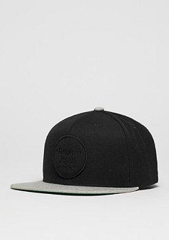 Brixton Snapback-Cap Wheeler black/light heather grey