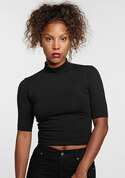 T-Shirt Cropped Turtleneck black