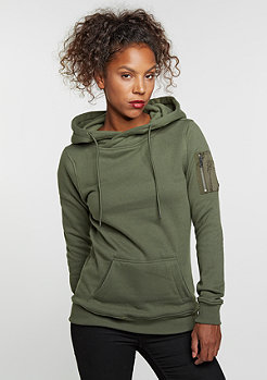 Hooded-Sweatshirt Bomber olive