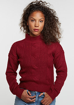 Sweatshirt Short Turtleneck burgundy