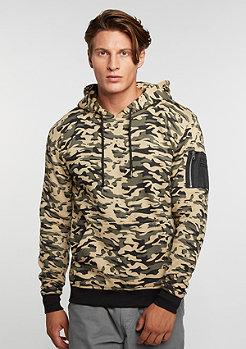 Hooded-Sweatshirt Sweat Camo Bomber wood camo