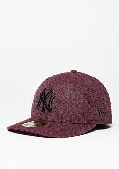 New Era Low Crown 59Fifty MLB New York Yankees heather maroon/black