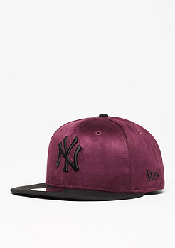 New Era Seasonal Suede Crown MLB New York Yankees maroon/black