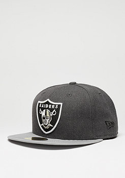 Fitted-Cap Heather Team NFL Oakland Raiders black/grey