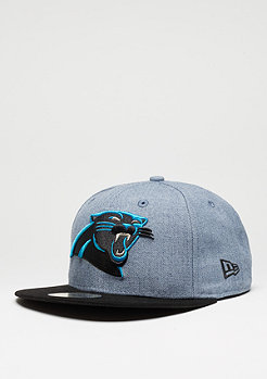 Fitted-Cap Heather Team NFL Carolina Panthers grau