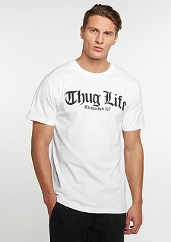 Mister Tee Thug Life Old English white