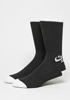 Sportsocke Crew Skateboarding Sock (3 Pair) black/white