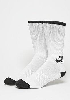 Sportsocke Crew Skateboarding Sock (3 Pair) white/black