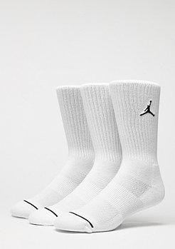 Jordan Sportsocke Jumpman Crew 3PPK white/white/white