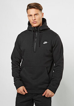 NIKE Hooded-Sweatshirt NSW HZ FLC Club black/black/white