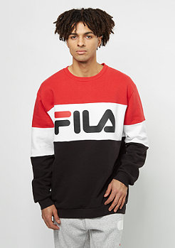 Fila Sweatshirt Urban Line Straight Blocked Crew true red
