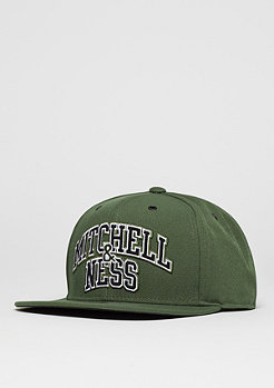 Snapback-Cap Black And White Arch olive