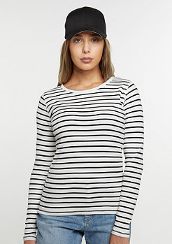 Longsleeve Stripes white/black