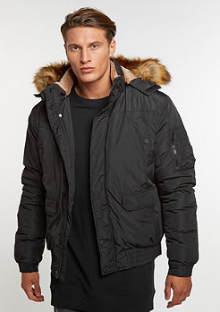 Urban Classics Hooded Heavy Bomber Jacket black