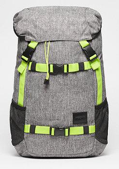 Rucksack Landlock SE heather grey/lime