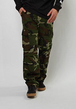 Cargo-Hose Regular camo green rinsed