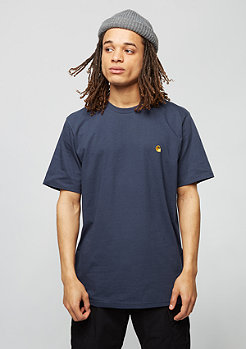 Carhartt WIP T-Shirt Chase blue/gold