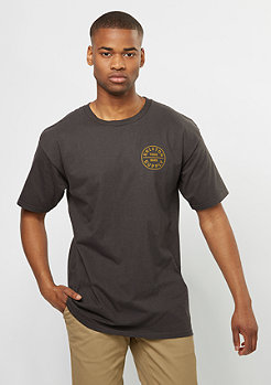 Brixton T-Shirt Oath washed black