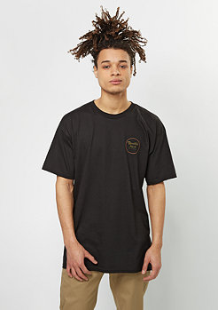 Brixton T-Shirt Wheeler II black/orange