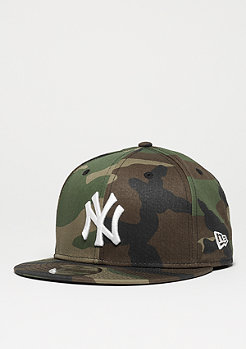 Snapback-Cap 9Fifty League Essential MLB New York Yankees woodland camo