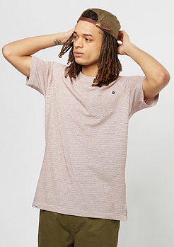Reell Pocket T-Shirt off white/wine red