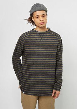 Reell Striped Longsleeve navy/olive
