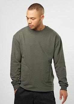 Sweatshirt Crew beluga olive