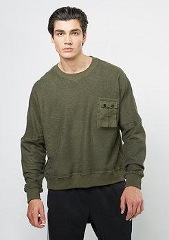 Future PAST Sweatshirt Pocket Crew olive
