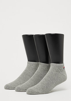 Fila Unisex Invisible Socks 3-Pack grey
