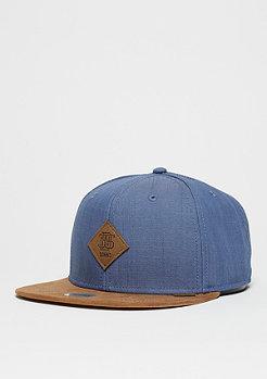 Djinn's Snapback-Cap 6P Linen bleu marine