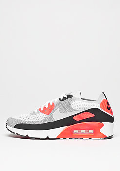 NIKE Schuh Air Max 90 Ultra 2.0 Flyknit white/wolf grey/bright crimson