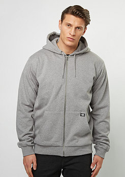 Hooded-Zipper Kingsley grey melange