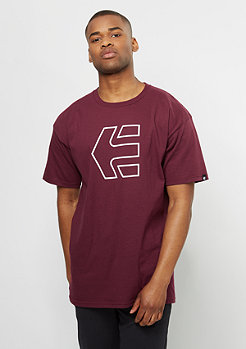 Etnies T-Shirt Icon Outline burgundy