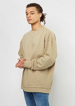 Urban Classics Sweatshirt Oversized Open Edge warm sand
