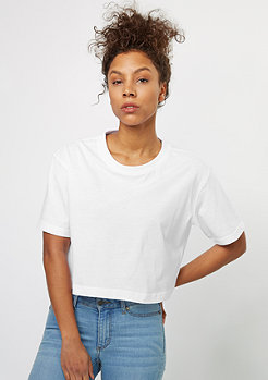 T-Shirt Ladies Short Oversized white
