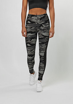 Urban Classics Camo Stripe Leggings dark camo/black