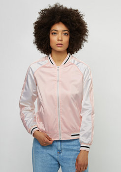 Urban Classics Übergangsjacke 3-Tone Souvenir Jacket pink/off white/black