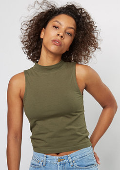 Tanktop Turtleneck Short Top olive