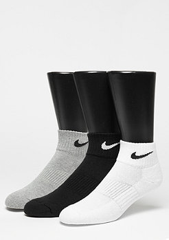 NIKE Chaussettes de sport pack de 3 NK Cush QT gris heather/black/white