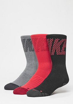 NIKE Dri-Fit Knurling Crew red/charcoal/black