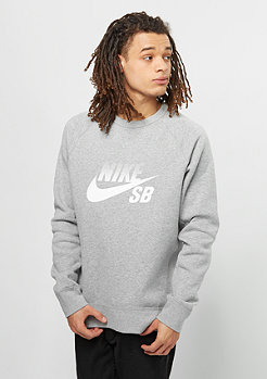 NIKE SB Sweatshirt Icon Fade dark grey heather/white