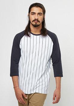 Longsleeve Contrast 3/4 Baseball white/navy