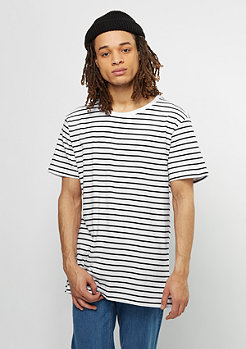 T-Shirt Stripe white/black