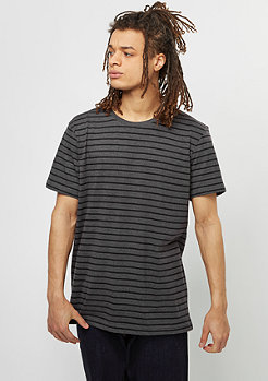T-Shirt Striped charcoal/black