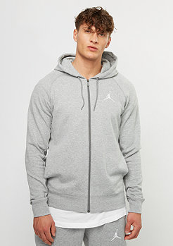 Hooded-Zipper Lite FZ dark grey heather/white